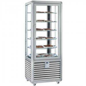 Vitrina frigorifica verticala rotativa ptr cofetarie 360 lt